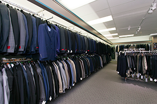 Ready to wear suit selection